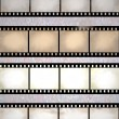 Vintage scratched film strips — Stock Photo