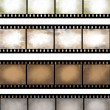Grunge textured film strip — Stock Photo
