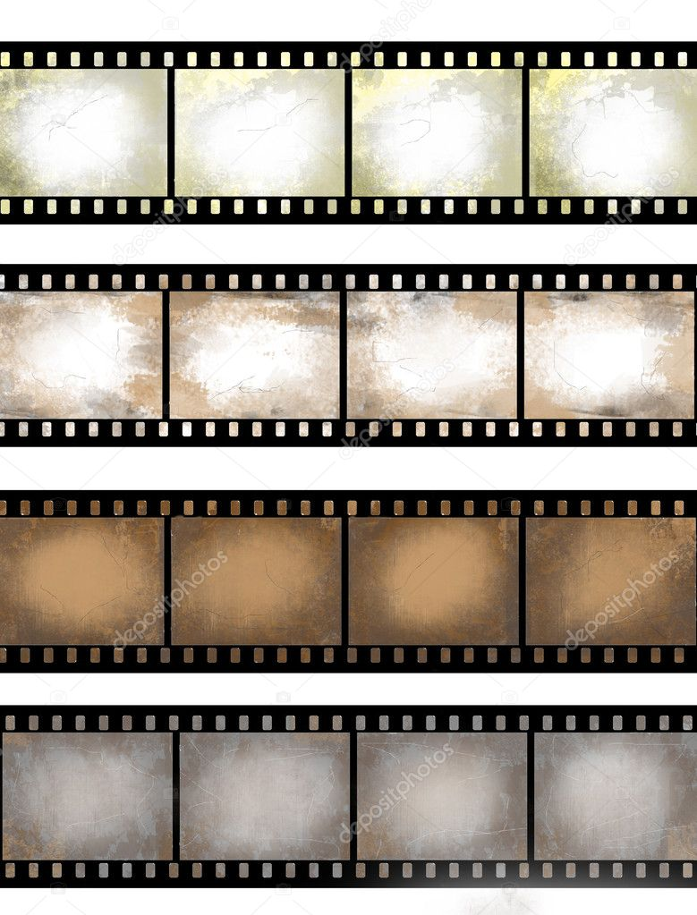 Grunge textured film strip stock image