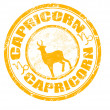 Stock Vector: Capricorn stamp