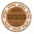 100% wood stamp - Stock Vector