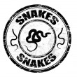 Snakes stamp — Stock Vector
