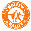 Ballet stamp - Stock Vector