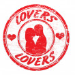 Lovers stamp — Stock Vector