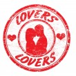Lovers stamp — Stock Vector #4391466