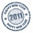 Happy New Year - 2011 stamp — Stock Vector