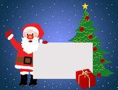 Santa Claus advertising background — Stock Vector