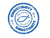 Christianity stamp — Stock Vector
