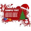 Christmas frame for text — Imagen vectorial