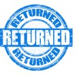 Returned stamp - Stock Vector