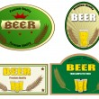 Beer labels design — Imagen vectorial