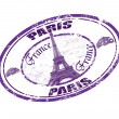 Paris stamp — Stock Vector