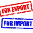 Постер, плакат: For import and for export stamps