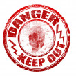 Danger stamp — Vector de stock #4412299