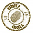Grill stamp — Stock Vector
