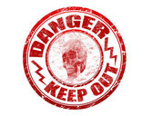Danger stamp — Stock Vector