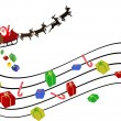Musical Christmas background — Stock Vector