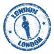 London stamp - Stock Vector