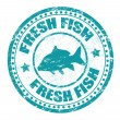 Fresh fish stamp — Stockvektor