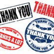 Stock Vector: Thank you stamps