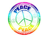 Peace stamp — Stock Vector
