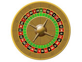 Roulette, casino on white background — Stock Vector