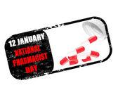 Día nacional del farmacéutico — Vector de stock