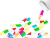 Color pills — Stock Vector