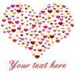 Royalty-Free Stock Vector Image: Heart made of many hearts