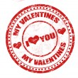 Stock Vector: My valentines stamp