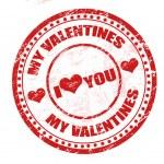 私のバレンタインのスタンプ — ストックベクタ