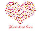 καρδιά από πολλές καρδιές — Διανυσματικό Αρχείο