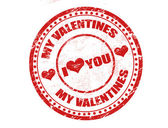 My valentines stamp — Vecteur