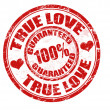 True love stamp — Stock Vector