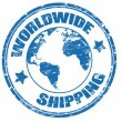 Worldwide Shipping stamp - Stok Vektör