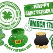 St. Patrick stamps - Imagens vectoriais em stock