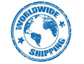 Worldwide Shipping stamp — Wektor stockowy