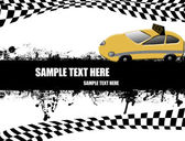 Cartel de taxi — Vector de stock