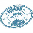 Stock Vector: Hawaii stamp
