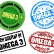 Royalty-Free Stock Vector Image: Omega 3 stamps