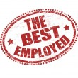 Stock Vector: The best employed stamp