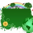 Royalty-Free Stock Vector Image: Green earth background
