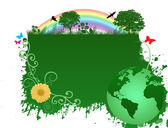 Green earth background — Stock Vector