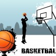Stock Vector: Street basketball