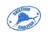 Sailfish stamp — Stock Vector