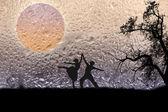 Couple dancing background — Stock Photo
