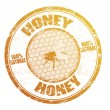 Honey stamp — Vector de stock