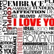Various love words — Stock Vector