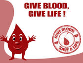 Give blood, give life — Stock Vector