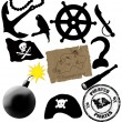 Pirates elements - Stock Vector